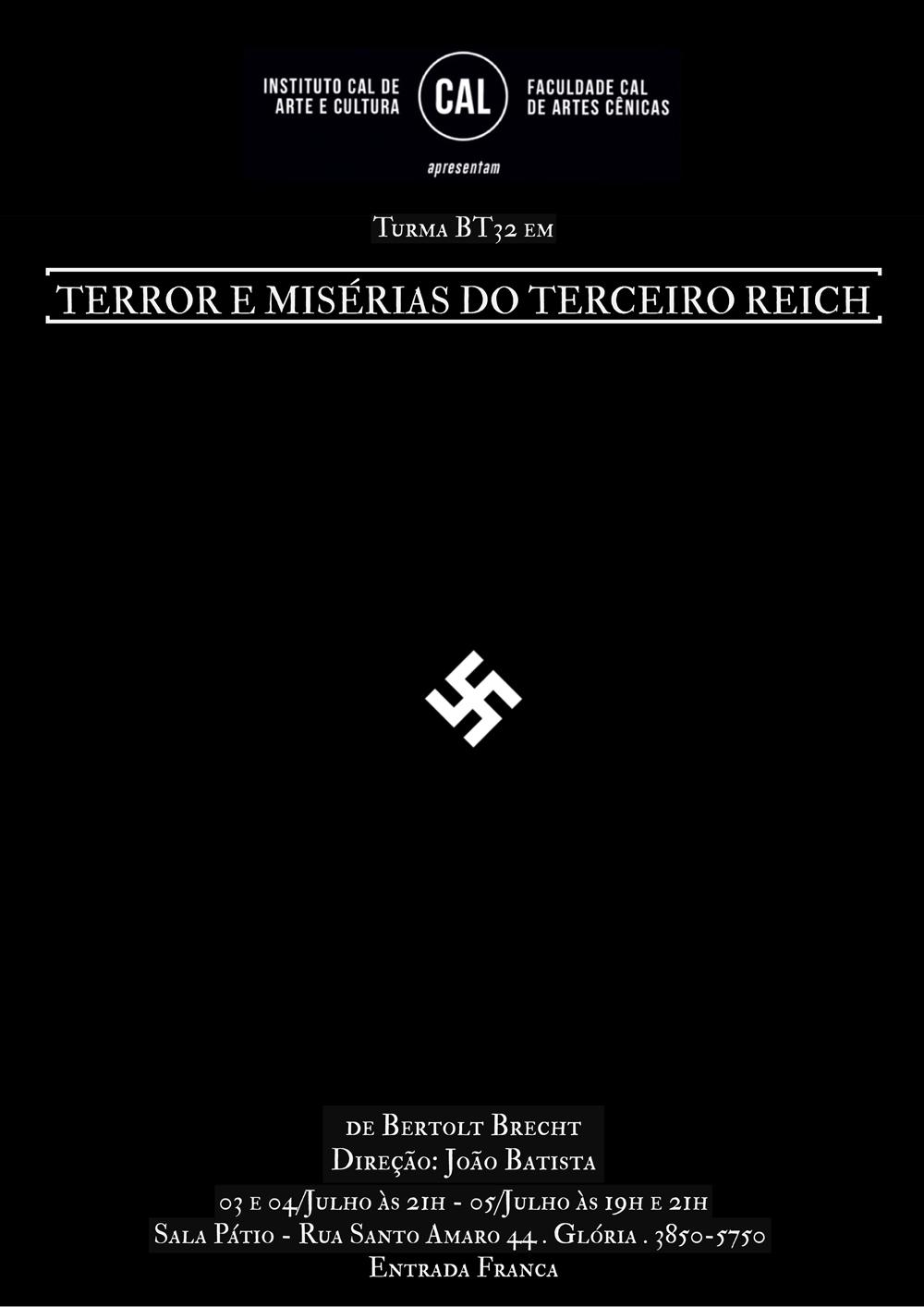 TERROR E MISÉRIA DO TERCEIRO REICH